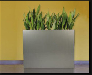 Tall trough or planter wall